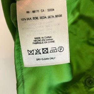 Anthropologie Tops - Anthropologie Silk Blouse 00 XS HD Paris Green